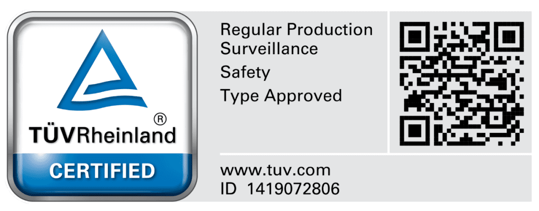 TUV safety certification