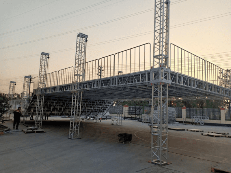 double-layer stage lighting truss diaplay
