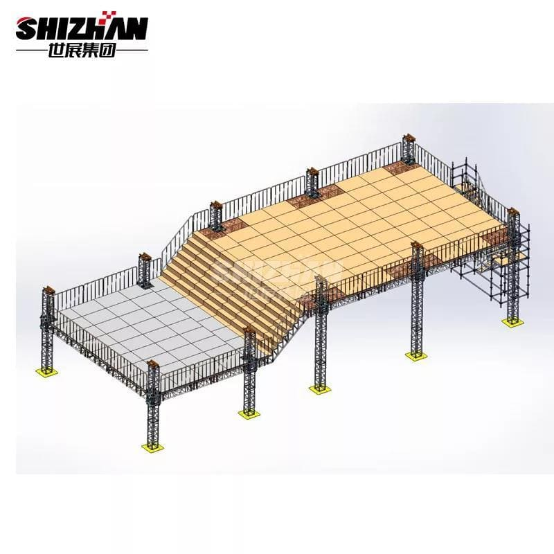 double-layer stage lighting truss